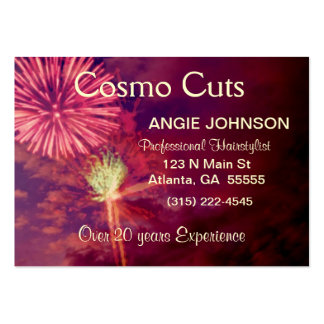 Contemporary Fireworks Business Card