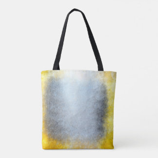 Contemporary Grungy Silver Gray Yellow  Paining Tote Bag
