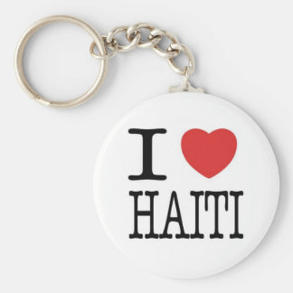 Conversations with the Living: I <3 Haiti Key Basic Round Button Key Ring