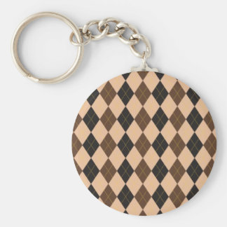 Cool 1950's customizable basic round button key ring