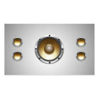 Cool Audio Speakers DJ Business Card