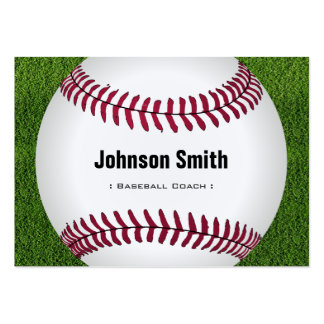 Cool Baseball Softball Coach Player Trainer Staff Pack Of Chubby Business Cards