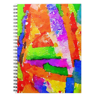 Cool Beautiful Colourful Abstract Collage Note Books