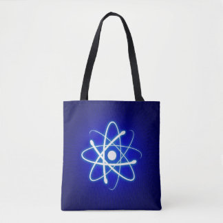 Cool Blue Glowing Atom | Geek Gifts Tote Bag
