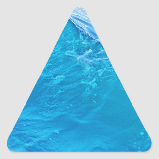 Cool blue water wave triangle sticker