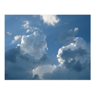 Cool Cloud Formations And Blue Skies Postcard