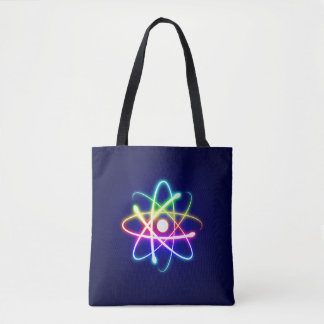 Cool Colorful Glowing Atom | Geek Gifts Tote Bag