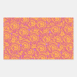 Cool cute girly swirls pink and orange SWIRLS08 Rectangular Sticker