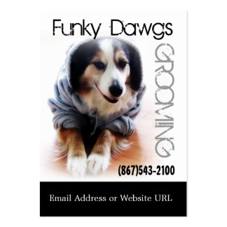 Cool Dog Grooming Aussie in Hoodie Pack Of Chubby Business Cards