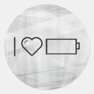 Cool Empty Batteries Round Sticker
