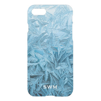 Cool Ice Blue Crystal Frost Monogram iPhone 7 Case