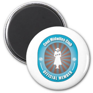 Cool Midwifes Club 6 Cm Round Magnet