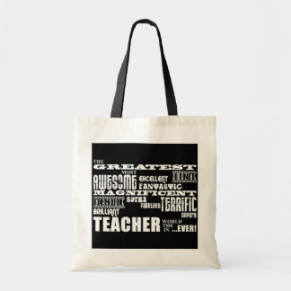 Cool Modern Fun Teachers : Greatest Teacher World Budget Tote Bag