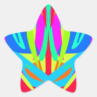 Cool Modern Vibrant Symmetrical Abstract Star Sticker