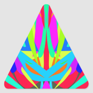 Cool Modern Vibrant Symmetrical Abstract Triangle Sticker