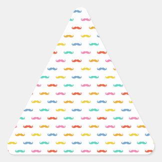cool moustache pattern triangle sticker