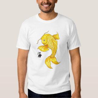 Cool Oriental Japanese Gold Koi Fish Carp tattoo T-shirt