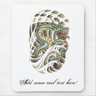 Cool Oriental Water Snake Tattoo Mouse Pad