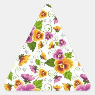 cool pattern flowers triangle sticker
