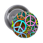 Cool Peace Love Heart 6 Cm Round Badge