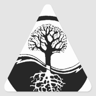 cool tree in black and white triangle sticker