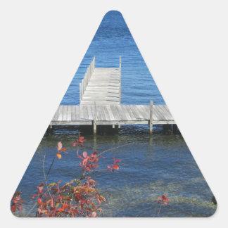 Cool Weirs Beach Dock Triangle Sticker