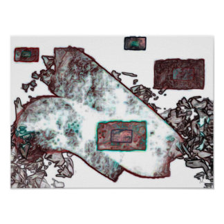 Copper Abstract Expression Poster Art