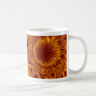 Copper Flowers Basic White Mug