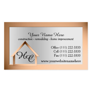 Copper Steel House Building with Monogram Pack Of Standard Business Cards