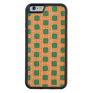 Coral and Teal Modern Geometric Pattern Cherry iPhone 6 Bumper Case