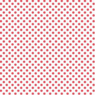 Coral Pink Polka Dots by Shirley Taylor Photo Sculpture Badge