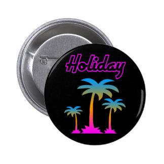 COREY TIGER 80s RETRO PALM TREES HOLIDAY ISLAND 6 Cm Round Badge