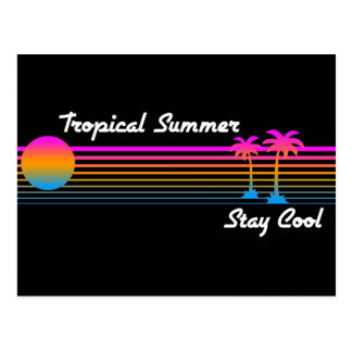 COREY TIGER '80s RETRO TROPICAL SUMMER STAY COOL Postcard