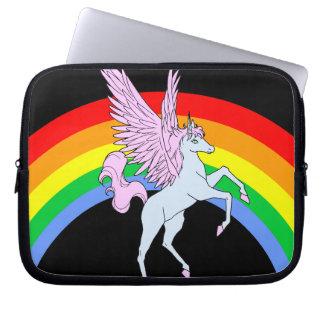 Corey Tiger 80s Unicorn Rainbow Laptop Sleeve