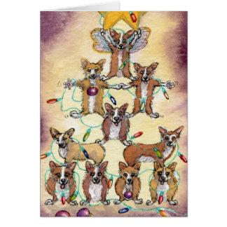 Corgi Fur tree Greeting Card