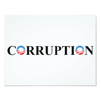CORRUPTION 11 CM X 14 CM INVITATION CARD