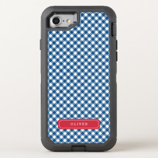 Country Chic Blue Gingham OtterBox Defender iPhone 7 Case