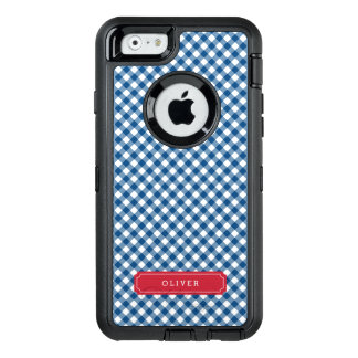Country Chic Blue Gingham Personalize OtterBox iPhone 6/6s Case