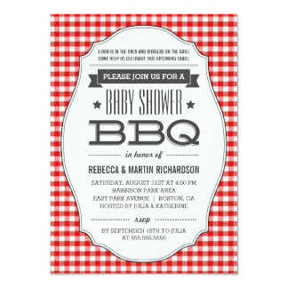 Couples BBQ Baby Shower Invitations