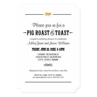 Couple's Wedding Shower   Pig Roast & Toast 13 Cm X 18 Cm Invitation Card