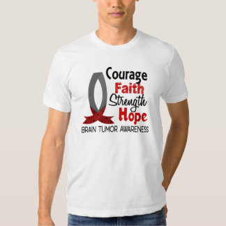 Courage Faith Strength Hope Brain Tumor Tshirts