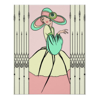 COURTNEY, ART DECO: Easter Morning Poster