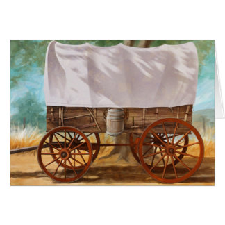 Covered Wagon Greeting Card