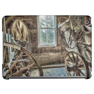Covered wagon, wooden wagon wheel