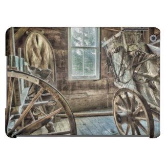Covered wagon, wooden wagon wheel iPad air cover