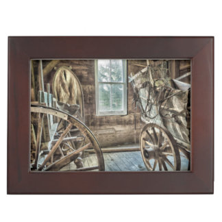 Covered wagon, wooden wagon wheel keepsake boxes