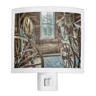 Covered wagon, wooden wagon wheel nite lites
