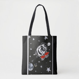 Cow in Space Bag Tote Bag