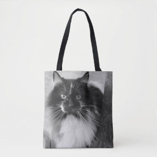 Cow Kitty Tote Bag