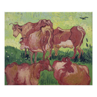 Cows, 1890 poster